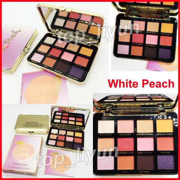 2018 makeup faced white peach matte eye hadow palette 12 color himmer eye hadow glitter velvet matte eye hadow palette dhl hipping
