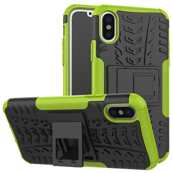 latest for iphone 7 plus case rugged tyre armor phone case hybrid pc+tpu heavy duty shockproof bracket phone cover