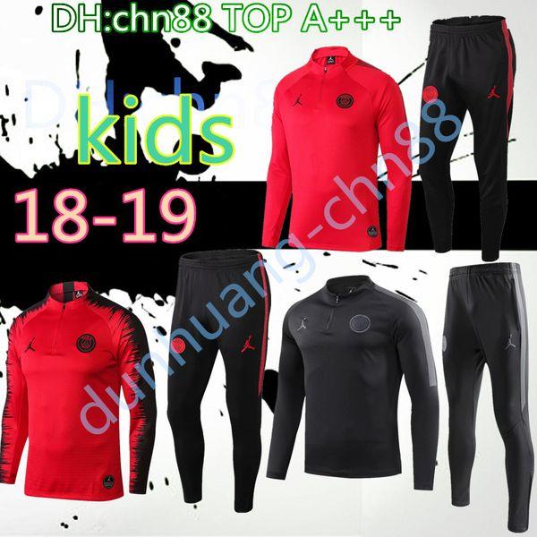 2018 2019 pari jordam kid jacket training uit champion league urvetement 18 19 p g mbappe football jacket pogba occer kid track uit