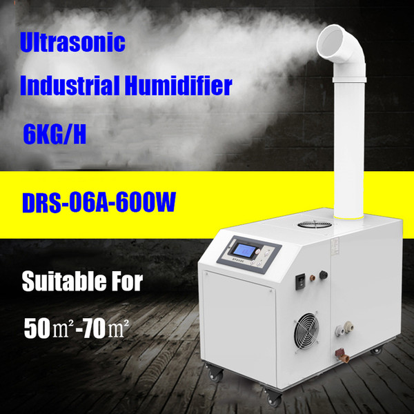 Industrial Ultrasonic Humidifier 220V 600W Commercial Humidifier 6kg/h Big Fog Full Automatic Humidifier Diffuser for Factory Workshop