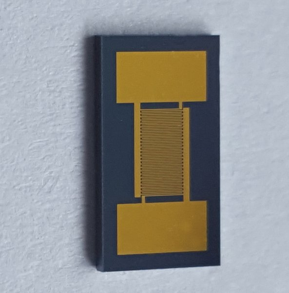 Interdigitated Electrode Array capacitance Monocrystalline Silicon Chip Gold Electrode 20/30