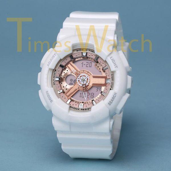 Высокое качество роскошные женщины спортивные часы ударопрочный все функции Autolight LED водонепроницаемый молодые дамы стиль Relogio Feminino с коробкой