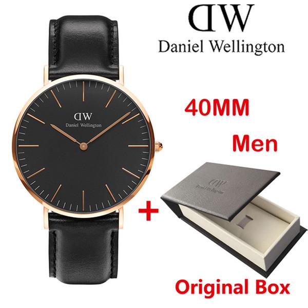 2018 ТОП роскошный бренд женская мода 40 мм и 36 мм стальной пояс стиль розовое золото мужские часы красивый подарок montre femme relojes DW часы