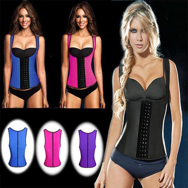 (100pcs/lot)WOMEN SEX Latex Rubber body shaper Waist Trainer training corsets Corset Latex Corset Sexy Women Latex Waist Cincher Slimming