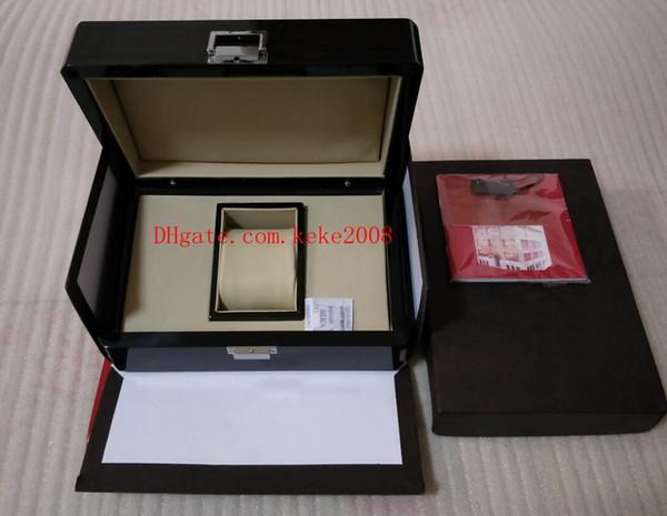 Роскошные часы оригинальный черный ящик бумаги деревянная сумка для деревянные N фото