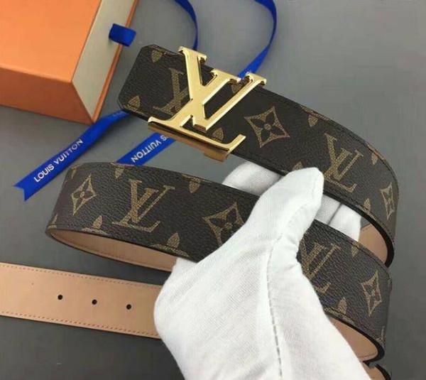 2019 Fashion men Belt Genuine Leather Famous Brand Belt Men 100% Good Quality Decoration Letter Belts Strap Male Metal Buckle