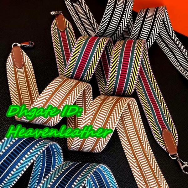 Dhe    herryfactoryoutlet   2018 a quality rainbow weaving  trap   eu   u  popular canva e belt  for luxuriou  bag