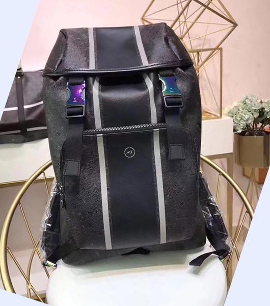Дизайнерские рюкзаки мужчины натуральная кожа бренд рюкзаки 43*22*15 cm Молния и шабл фото
