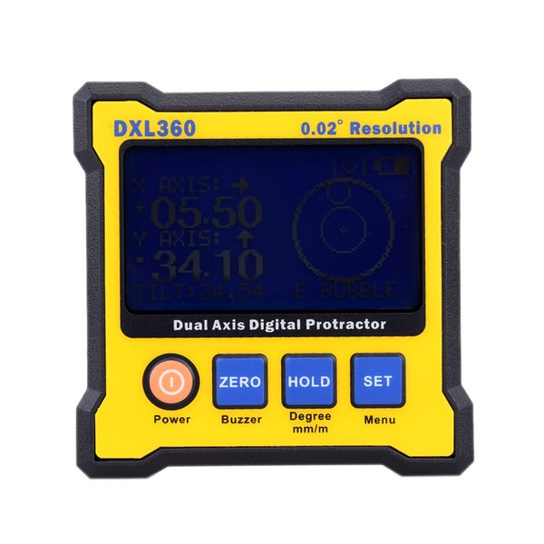 Dxl360 high accuracy dual axi  digital angle protractor angle meter dual axi  digital level gauge with 5  ide magnetic ba e