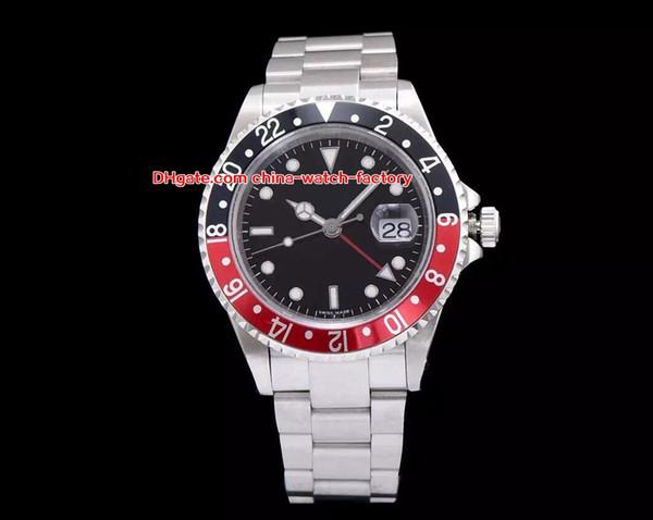 Luxury Top Quality Watch BP Factory 40mm GMT 1675 Vintage Coke Pepsi Black Red Bezel Swiss ETA 2836 Movement Automatic Mens Men's Watches