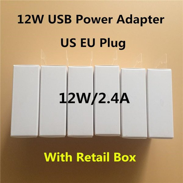 10pc  12w 5 2v 2 4a eu u  plug u b power adapter ac home wall charger travel adapter for ipad air iphone 7 8 6 6  5  with box