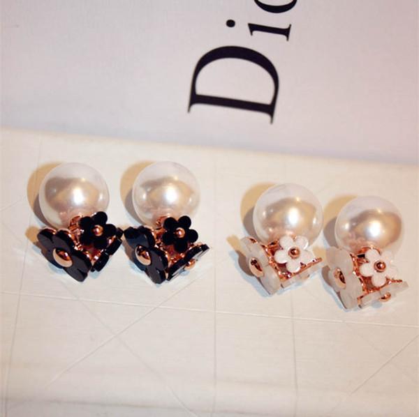 Жемчужина цветочные Oran Шарм для женщин изящный жемчуг старинные серьги для парти
