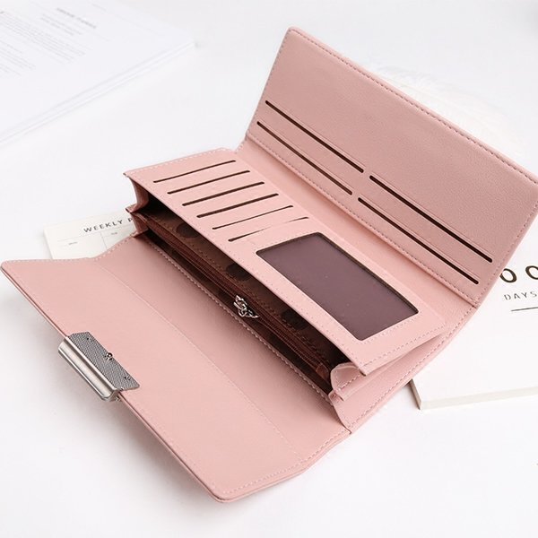 etonteck women wallet brand simple elegant pu leather purse female long style multifunction leather wallet young girl gift purse (434239797) photo
