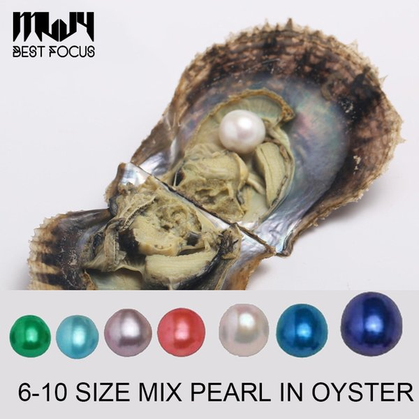 Large 6-10mm Edison Pearl Mix Size Oyster with Pearl Large Round Pearl in Oysters Colorful Edison Pearls Oysters to Open at Home