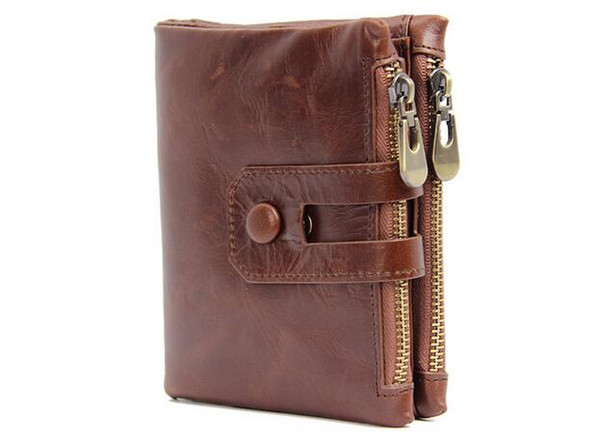 2018 men's wallet first layer leather crazy horse leather man purse 3 colors avaliable (426002297) photo
