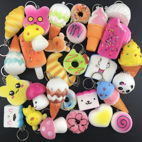 Random 10pc   qui hy toy  cream  cented cute keychain  lanyard   low ri ing kawaii  imulation lovely  oft food  qui hie  phone  trap