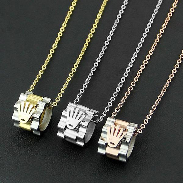 316L титана стали мода горячие старинные кулон любителей ожерелье 18K золото Леди юв