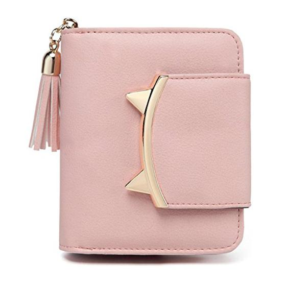 cute women cat mini wallet design purse leather strap (417414490) photo