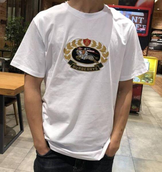 19ss лето BBR классический повседневная топы тис Париж логотип мода футболка топ Муж