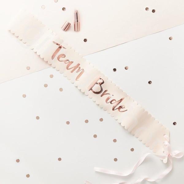 156 * 9.5 см Розовое Золото Команда Невесты, Чтобы Быть Атласной Пояса Свадебный Деко фото