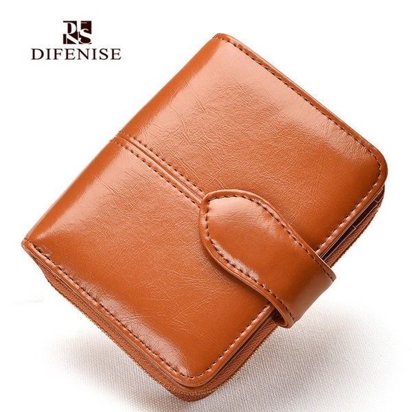 difenise fashion hasp leather women zipper cowhide wallets coin purse change purse genuine leather female wallets (428730813) photo