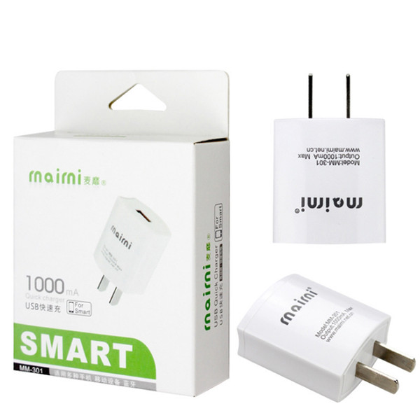 Univer al  mart u b fa t direct charger  for  am ung iphone ipad travel adapter plug full 5v 1a quick charger wiht retail package