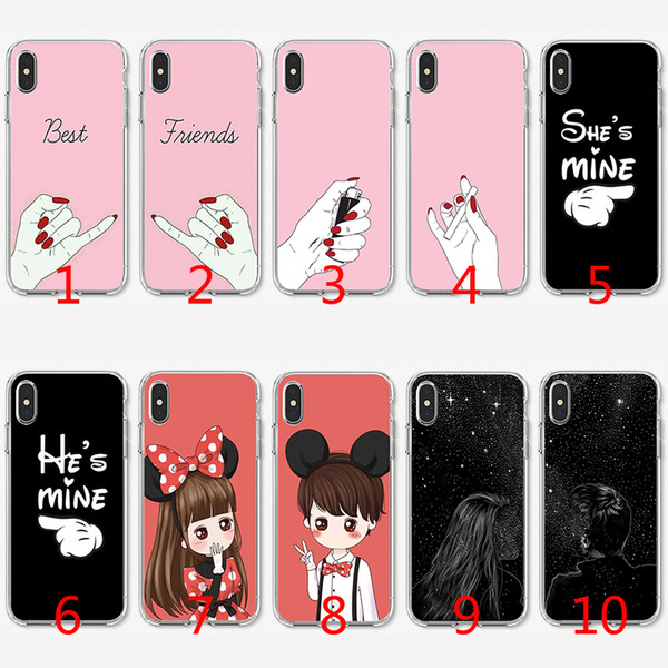 silicone case he is mine and she is mine for iphone 7