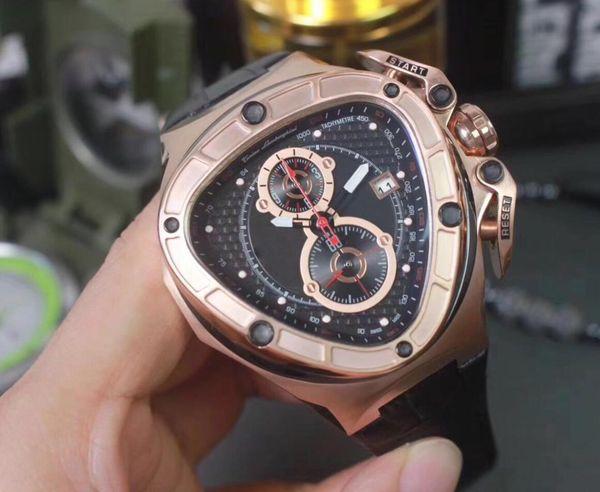 Отлично Luxury Mens Chronograph VK кварцевые часы Мужчины красный циферблат 66th Anniversary Часы Му фото