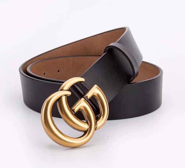 2019 Designer Belts Men High Quality Leather Mens Belt Luxury 100% genuine leather Smooth buckle Belts For men's trousers belt