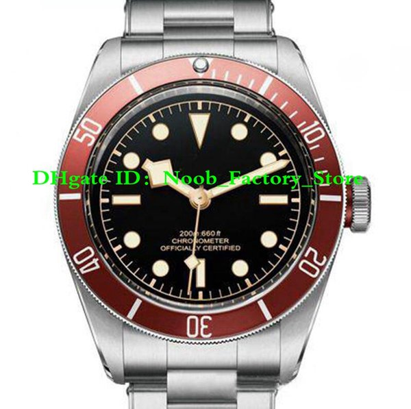 New factory ale men port watch red ca e tainle teel original trap black dial date weep automatic mechanical men watche