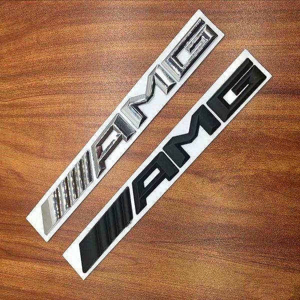 Новый 2016 -- 2018 металл черный серебристый Mercedes AMG логотип наклейка хвост наклейка задняя эмблема автомобиля значки