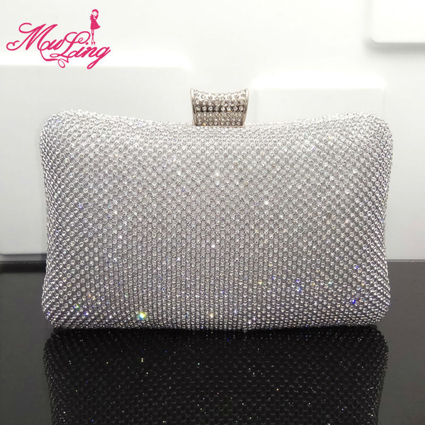 diamonds crystal evening bags clutches women evening bag clutches chain shoulder bag purses jeweled bridal wedding party (416378594) photo