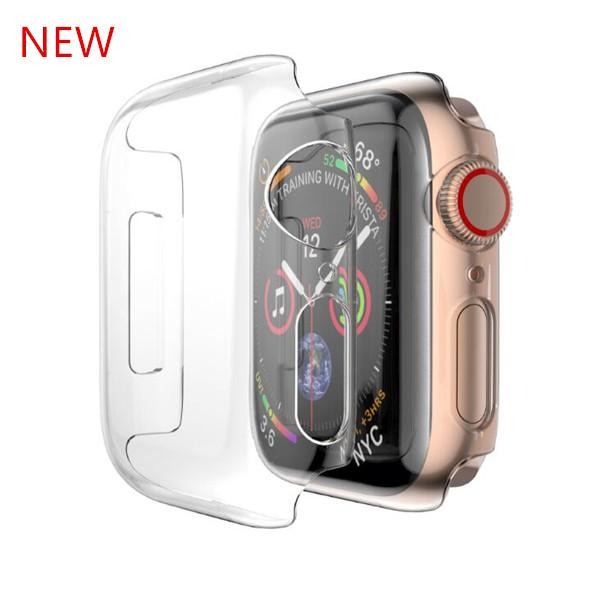 For apple watch  erie  4 pc hard ca e clear full cover protective  hell for iwatch 1 2 3