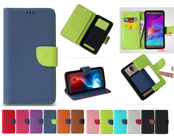 Univer al pu leather ca e wallet credit card flip phone ca e 3 5inch to 6 0inch mobile phone for iphone x  am ung huawei lg