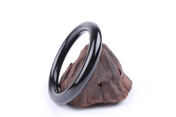 natural_black_agate_round_bracelets_cylindrical_agate_bracelets_fashionable_women's_showy_wild_models_cb13#