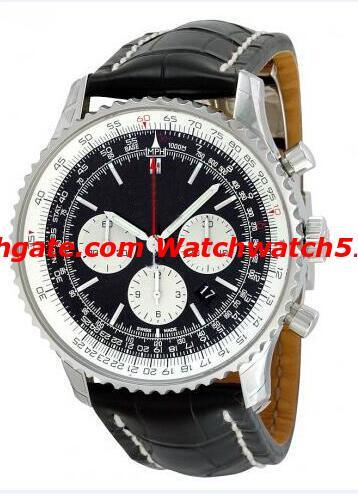 Luxury AAA Top Quality Sapphire AB0120 Automatic Chronograph Mechanical Movement 7750 Men's Wrist Watch Stainless Steel Black Dial Dress wat