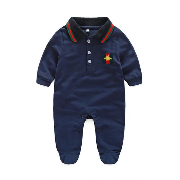 Розничная Детские комбинезоны весна и осень девушка одежда новорожденных Детская одежда с длинным рукавом кукла воротник Детские комбинезоны Baby Boy набор
