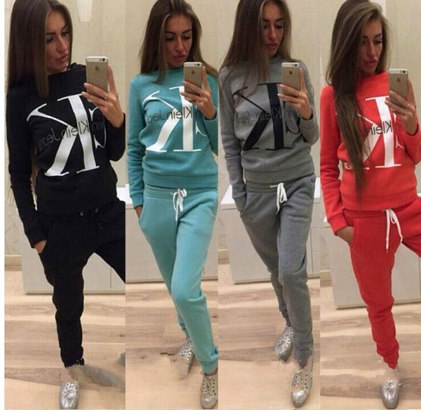 2018 New Fashion 2 Piece Clothing Set Women Crop Top And Pants Suit Ladies Sexy Leisure Two Piece Tracksuit