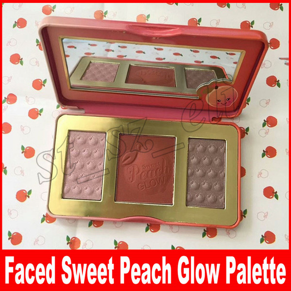 Сладкий персик Glow 3 цвета румяна пудра румяна сладкий персик свечение румяна розо фото