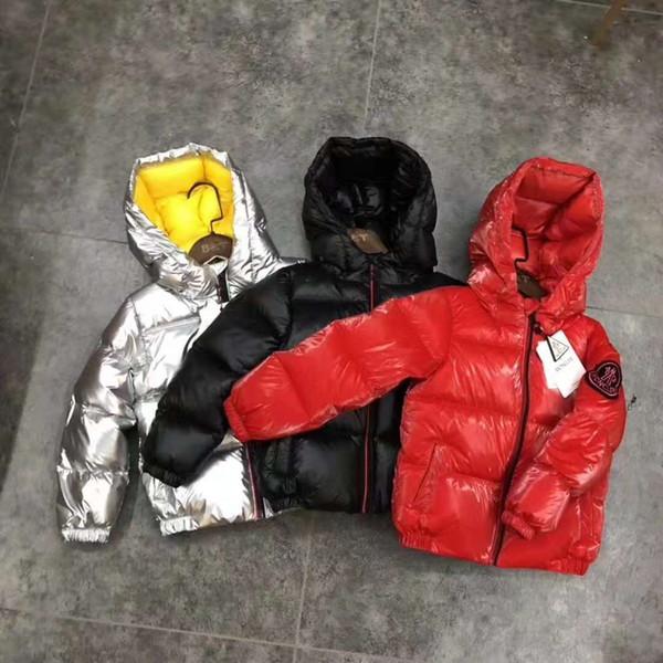 Новый пуховик утолщение гусиный пух мальчиков и девочек хлеб одежда в детской большой детский теплая куртка