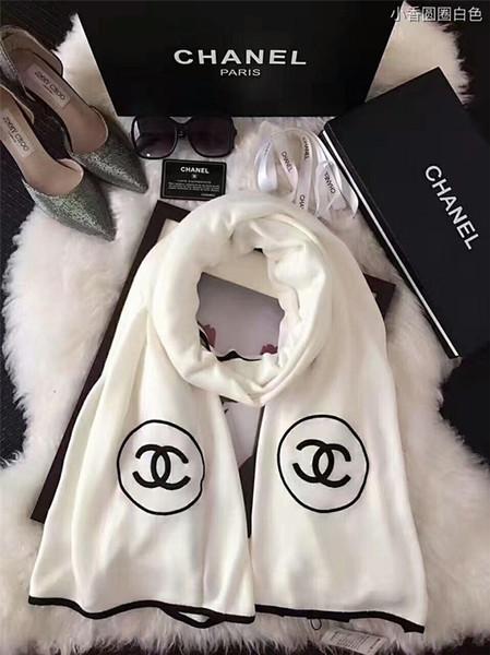 Мода CC дизайнер унисекс шарфы люксовый бренд мужчины женщины дети Шали Осень Зима повседневная шарф Cachecol marca