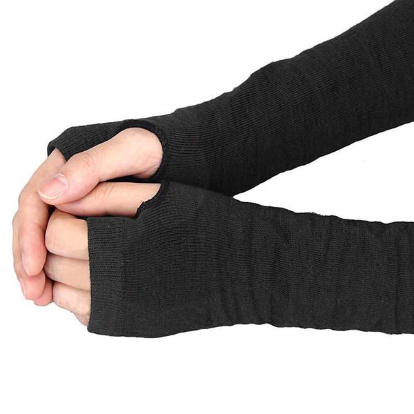 Теплые трикотажные шерстяные перчатки без пальцев дамы зимой трикотажные полови фото
