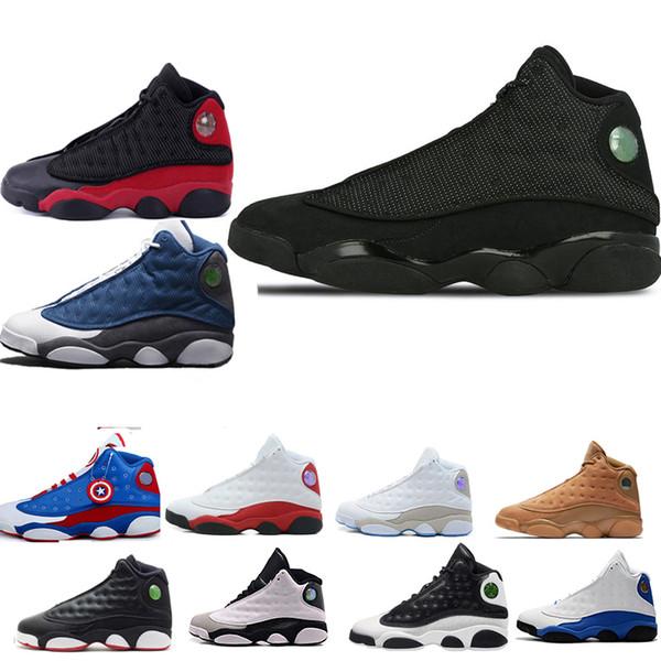 13 13s Мужчины Женщины Баскетбол обуви Phantom Чикаго GS Hyper Royal Black Cat кремень Разводит Бр фото