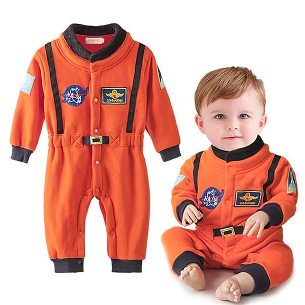 Мальчики одежда новорожденный мальчик ползунки астронавт одежда с длинным рукав