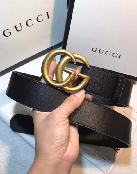 2018 new de igner belt leather belt for men belt for women wai t big buckle 2 0 3 4 3 8 with box ize eur 85 110 ggbelt