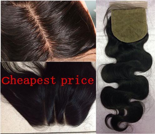 8a body wave human hair 4x4 ilk clo ure bleached knot middle 3 part ilk ba e clo ure ilk clo urelace