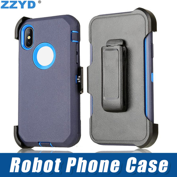 Zzyd robot 3 in 1 tpu pc multi layer protection ca e  hockproof drop protection cover for ipx xr x  max  am ung  8 9p note9