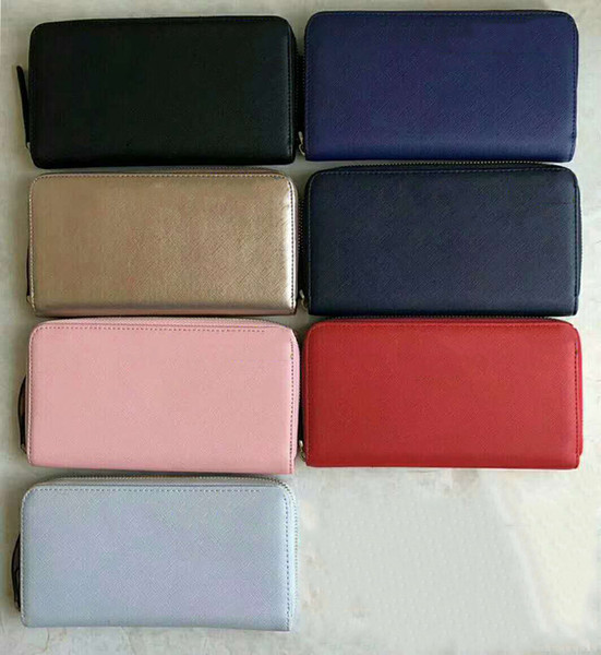 7 colors brand designer wallets for women purses clutch bags coin purses pu zipper long style (413792238) photo