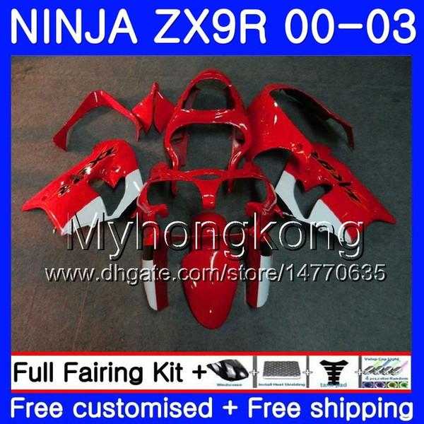 Body for kawa aki ninja zx 900 9 r zx 9r 2000 2001 2002 2003 216hm 42 zx900 factory red zx 9r 900cc zx9 r zx9r 00 01 02 03 fairing kit