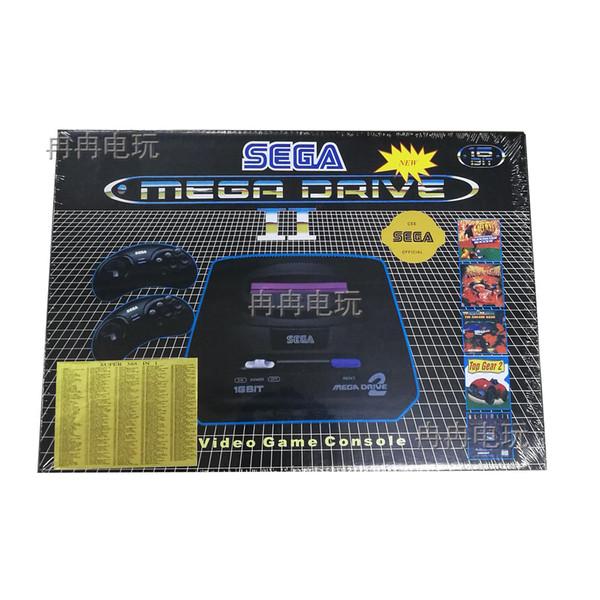 Supprot PAL система Sega MD2 видеоигра консоль 16 бит классический портативный игровой плеер MD2 sega megadrive 2 ТВ игровые консоли